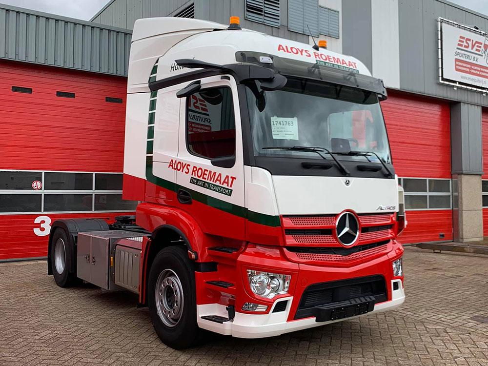 Esve Spuiterij te Lichtenvoorde, truckspuiterij, spuitwerk van trucks en vrachtwagens